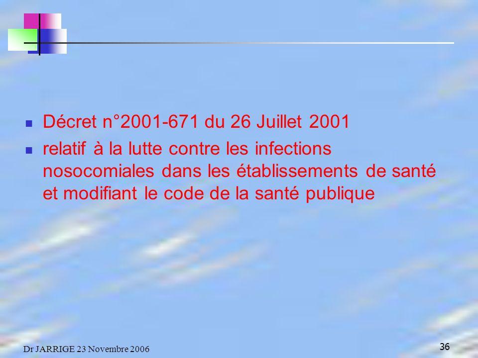 Décret n°2001-671 du 26 Juillet 2001
