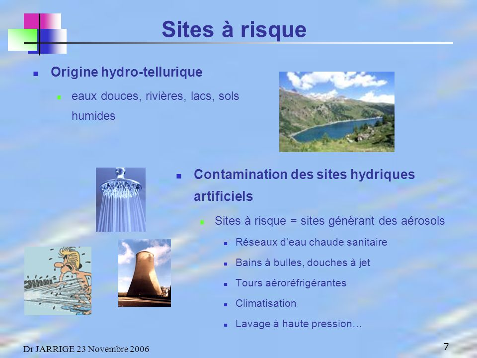Sites à risque Origine hydro-tellurique