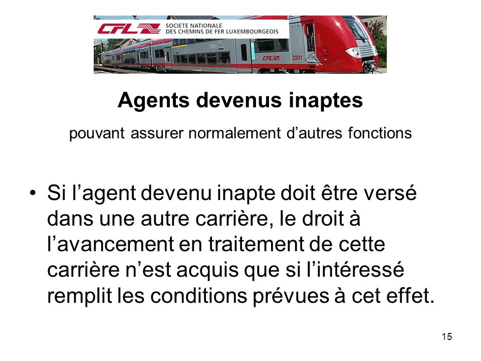 Agents devenus inaptes