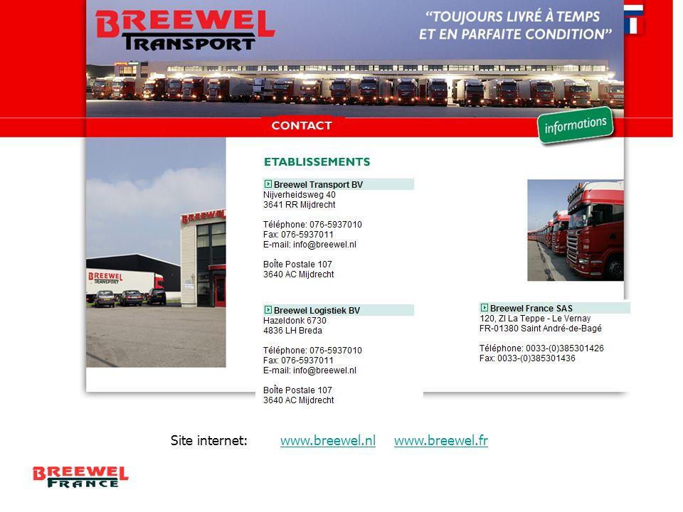 Site internet: www.breewel.nl www.breewel.fr