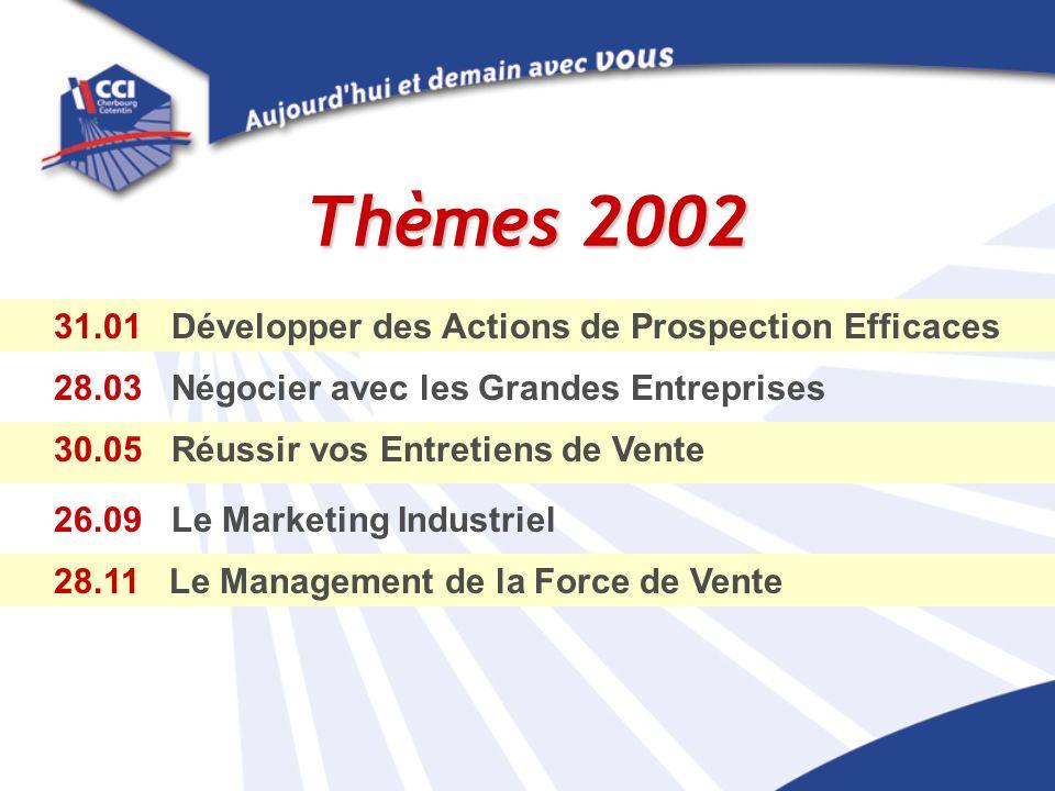 Thèmes 2002 31.01 Développer des Actions de Prospection Efficaces