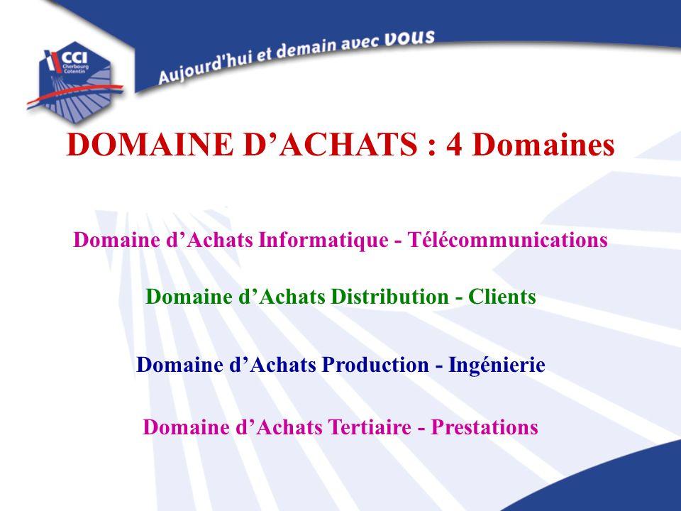 DOMAINE D'ACHATS : 4 Domaines