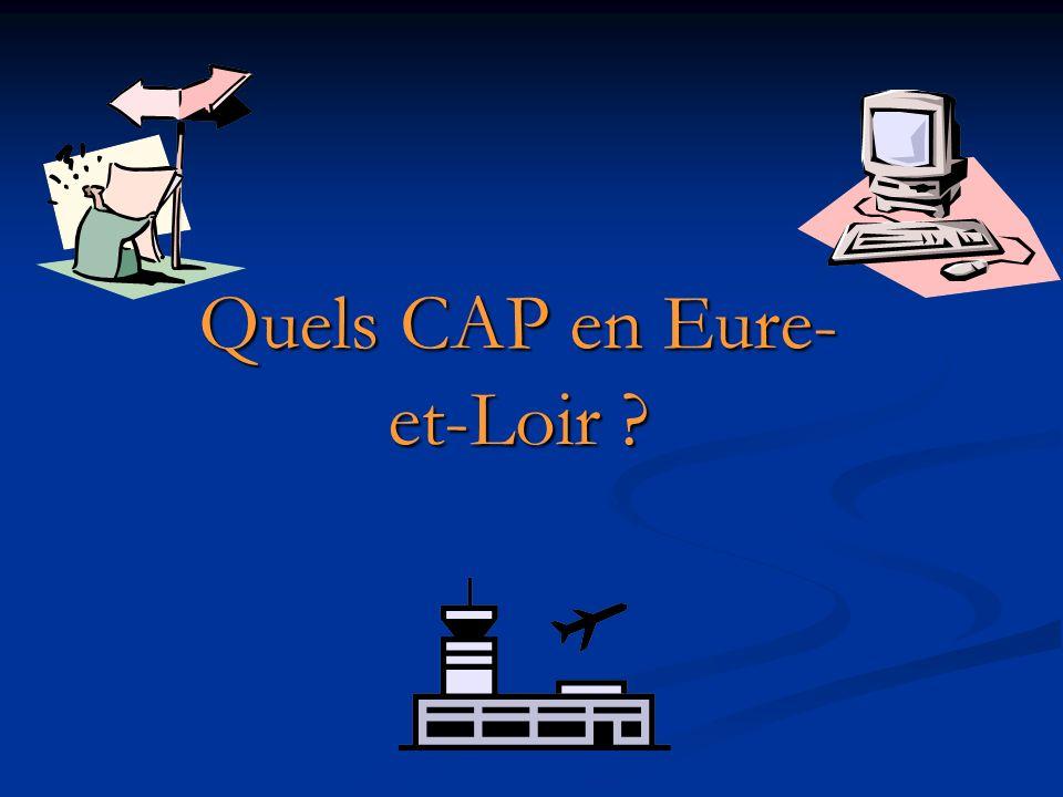 Quels CAP en Eure- et-Loir