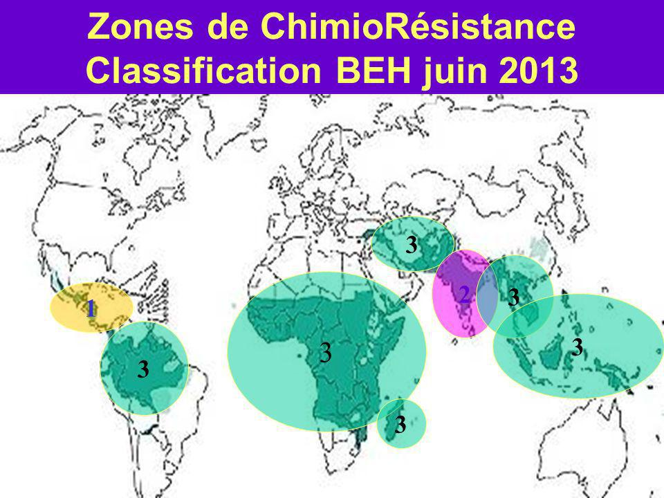 Zones de ChimioRésistance Classification BEH juin 2013