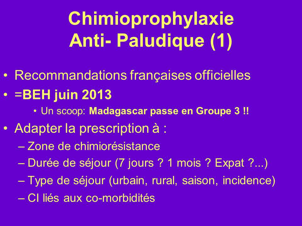Chimioprophylaxie Anti- Paludique (1)
