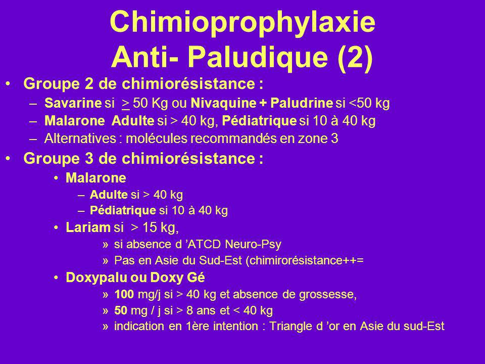 Chimioprophylaxie Anti- Paludique (2)