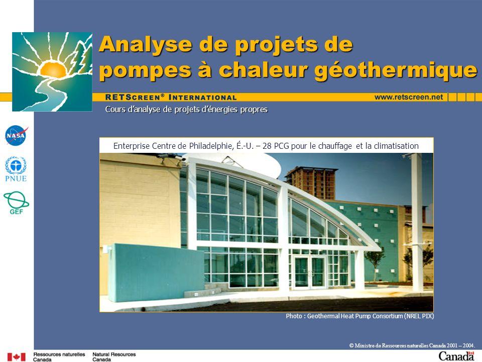 Analyse de projets de pompes à chaleur géothermique