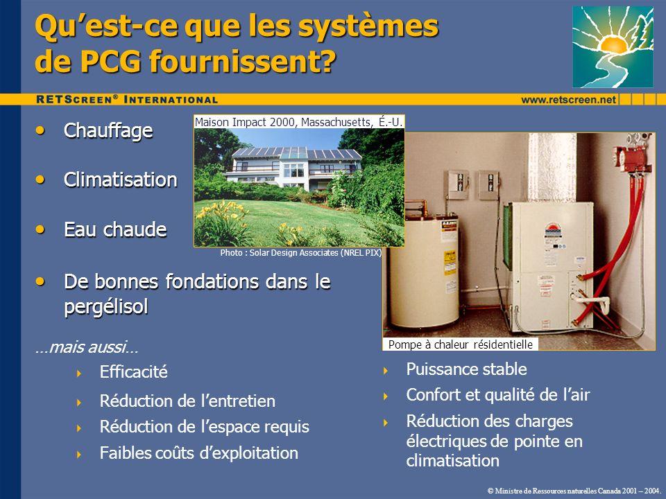 Qu'est-ce que les systèmes de PCG fournissent