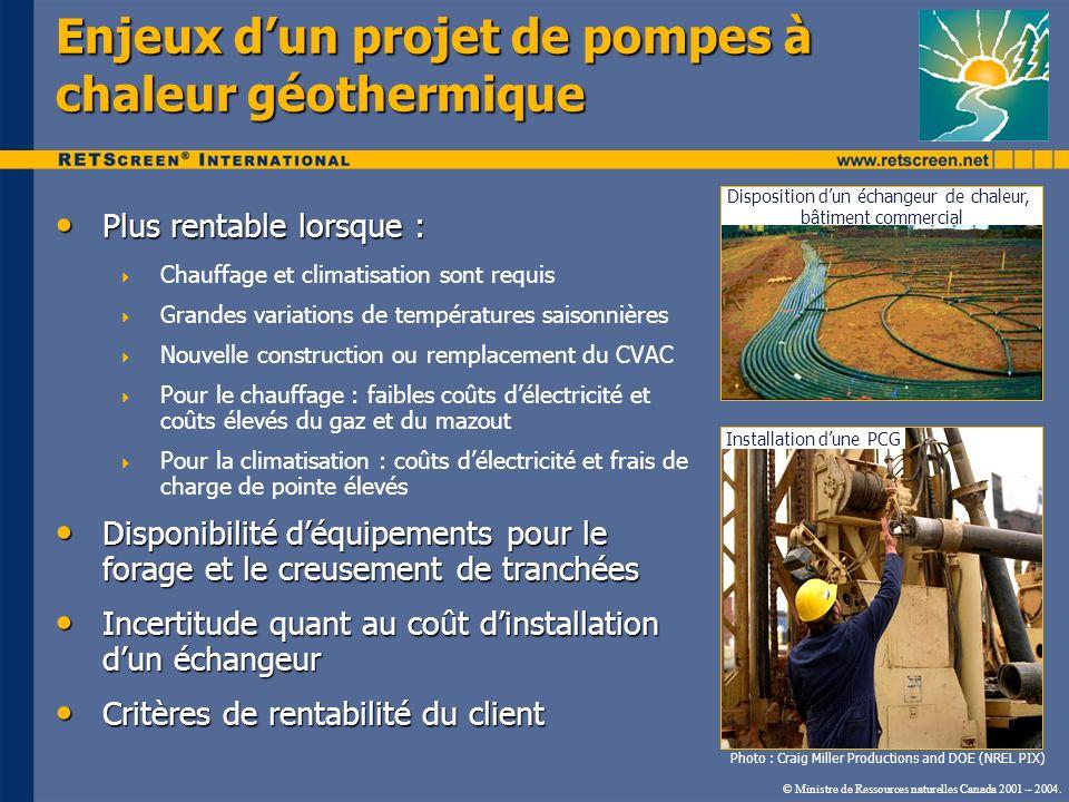 Enjeux d'un projet de pompes à chaleur géothermique