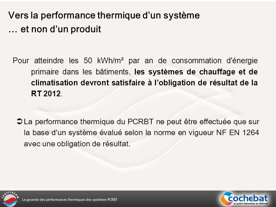 Vers la performance thermique d'un système … et non d'un produit
