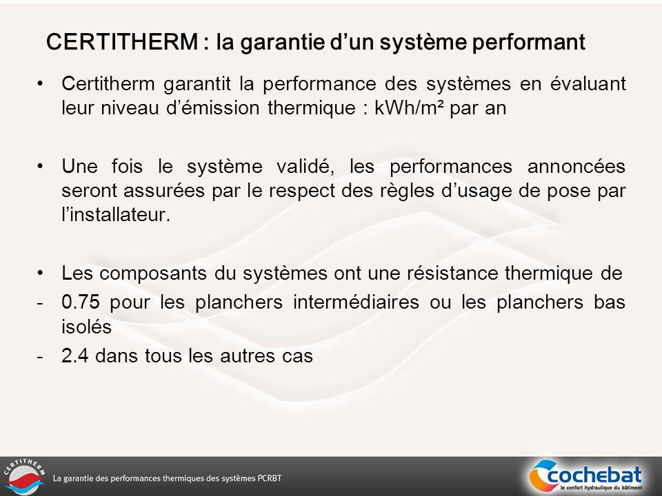 CERTITHERM : la garantie d'un système performant