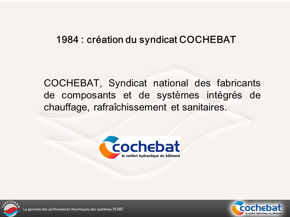 1984 : création du syndicat COCHEBAT