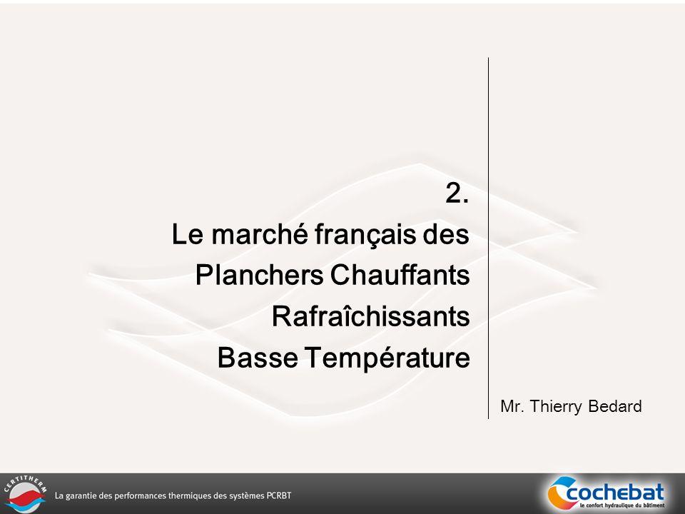 2. Le marché français des Planchers Chauffants Rafraîchissants Basse Température