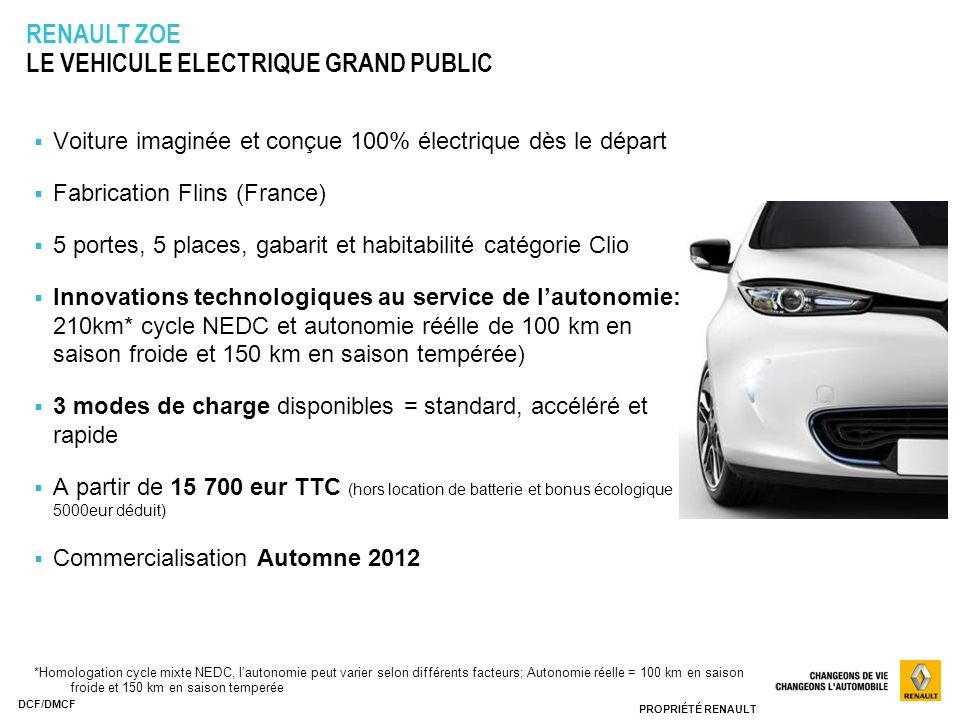 renault z e decouverte renault zoe ppt video online. Black Bedroom Furniture Sets. Home Design Ideas