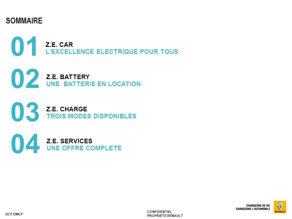 01 02 03 04 SOMMAIRE Z.E. CAR L'EXCELLENCE ELECTRIQUE POUR TOUS