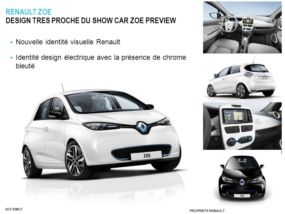 RENAULT ZOE DESIGN TRES PROCHE DU SHOW CAR ZOE PREVIEW