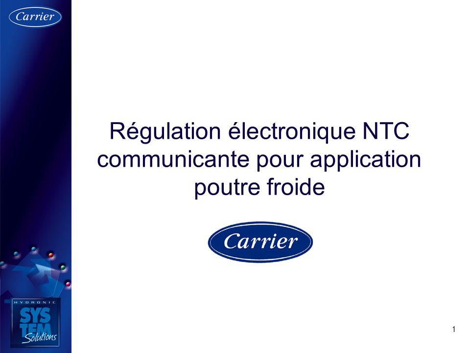 Régulation électronique NTC communicante pour application poutre froide