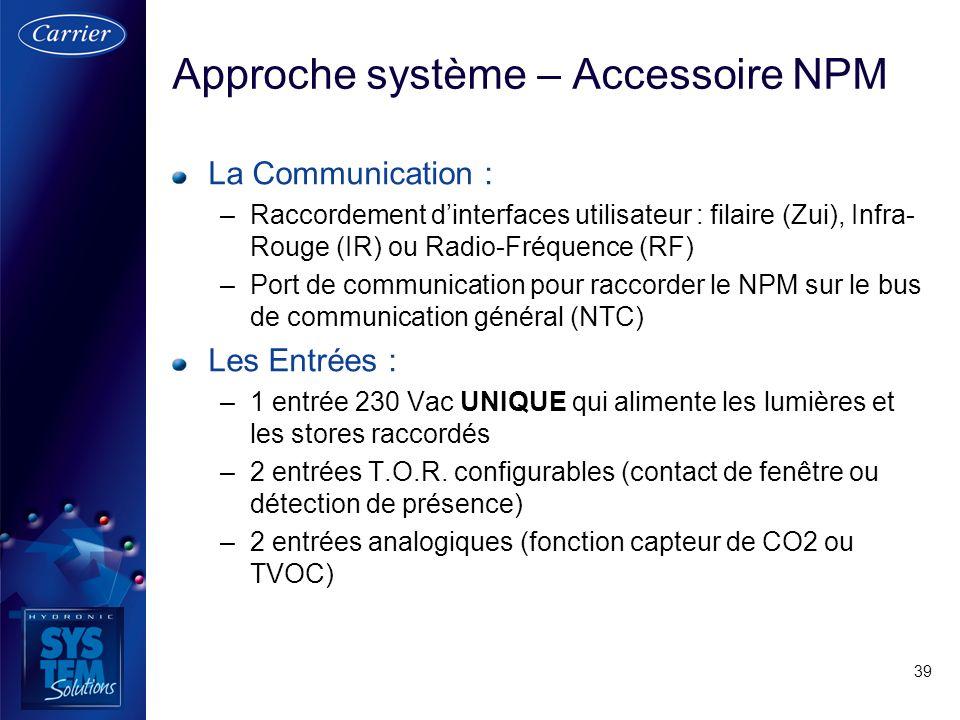 Approche système – Accessoire NPM