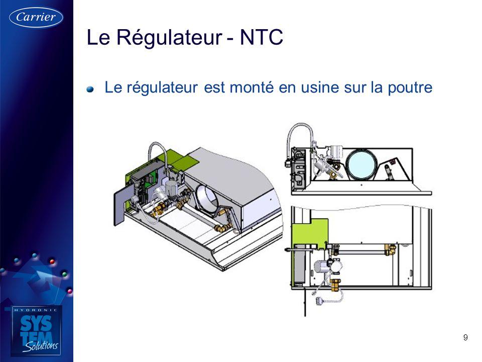 Le Régulateur - NTC Le régulateur est monté en usine sur la poutre