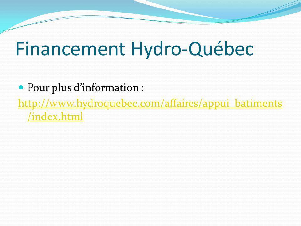 Financement Hydro-Québec