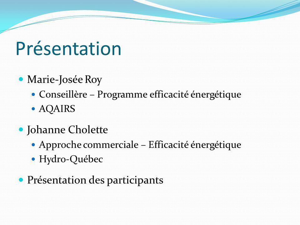 Présentation Marie-Josée Roy Johanne Cholette
