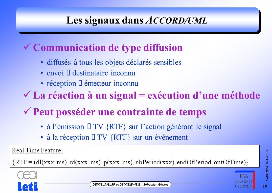 Les signaux dans ACCORD/UML