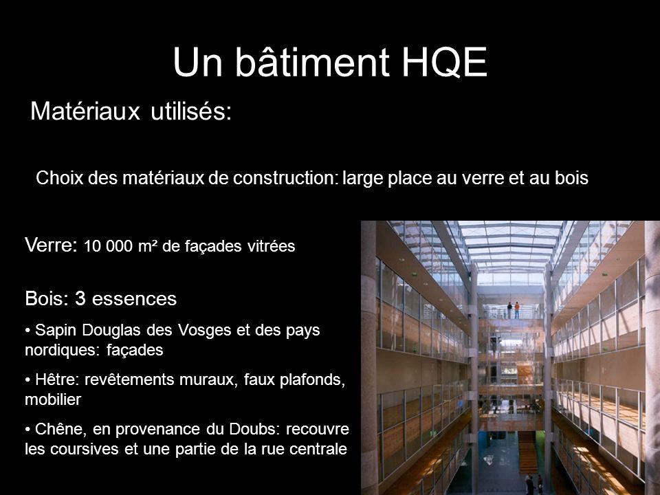 Un bâtiment HQE Matériaux utilisés: