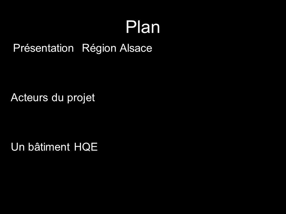 Plan Présentation Région Alsace Acteurs du projet Un bâtiment HQE