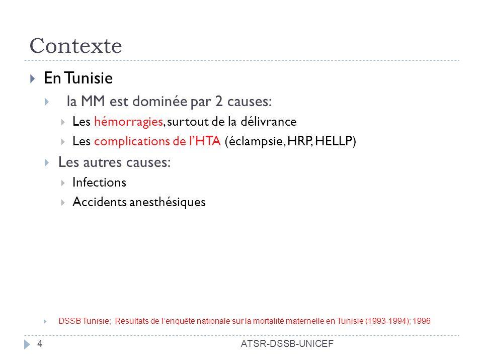 Contexte En Tunisie la MM est dominée par 2 causes: Les autres causes: