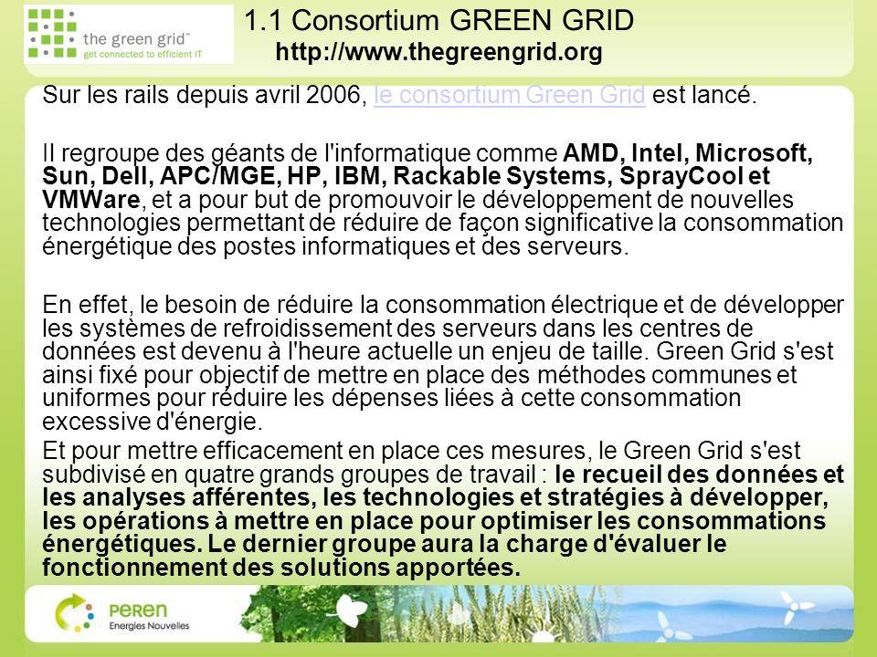 1.1 Consortium GREEN GRID http://www.thegreengrid.org