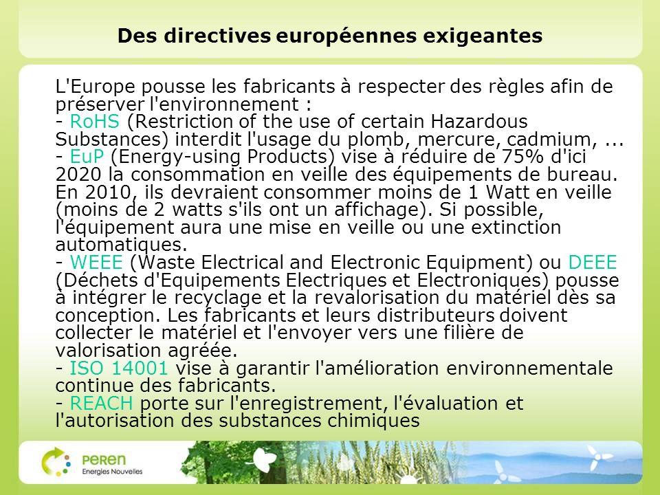 Des directives européennes exigeantes