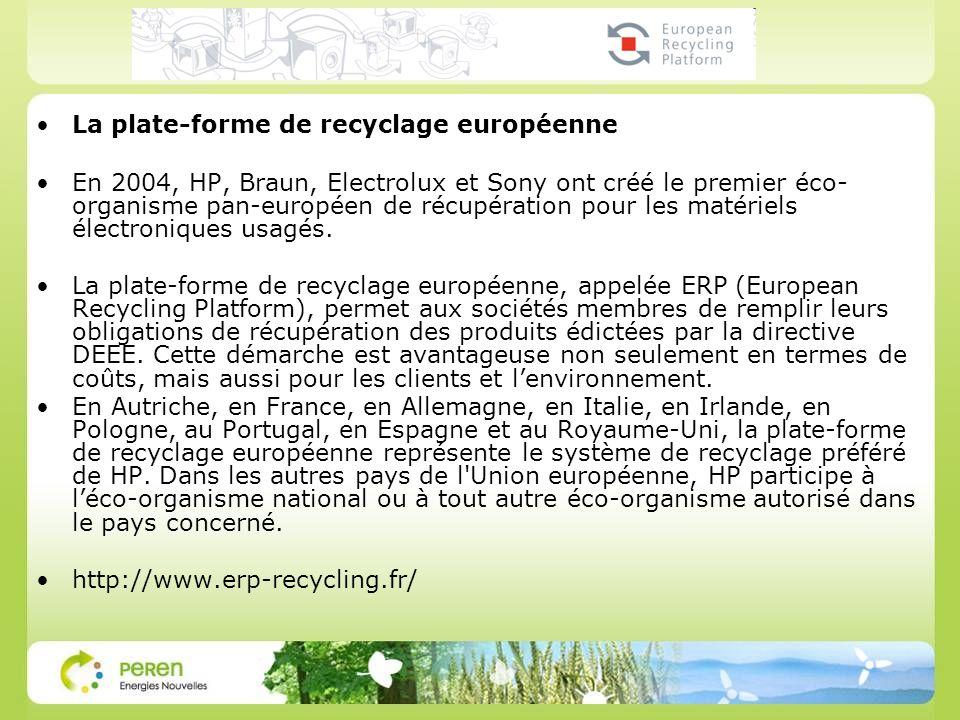 La plate-forme de recyclage européenne