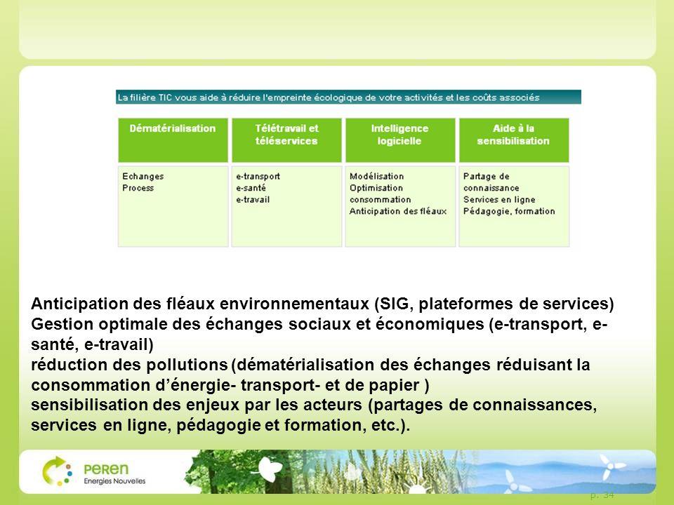 Anticipation des fléaux environnementaux (SIG, plateformes de services)
