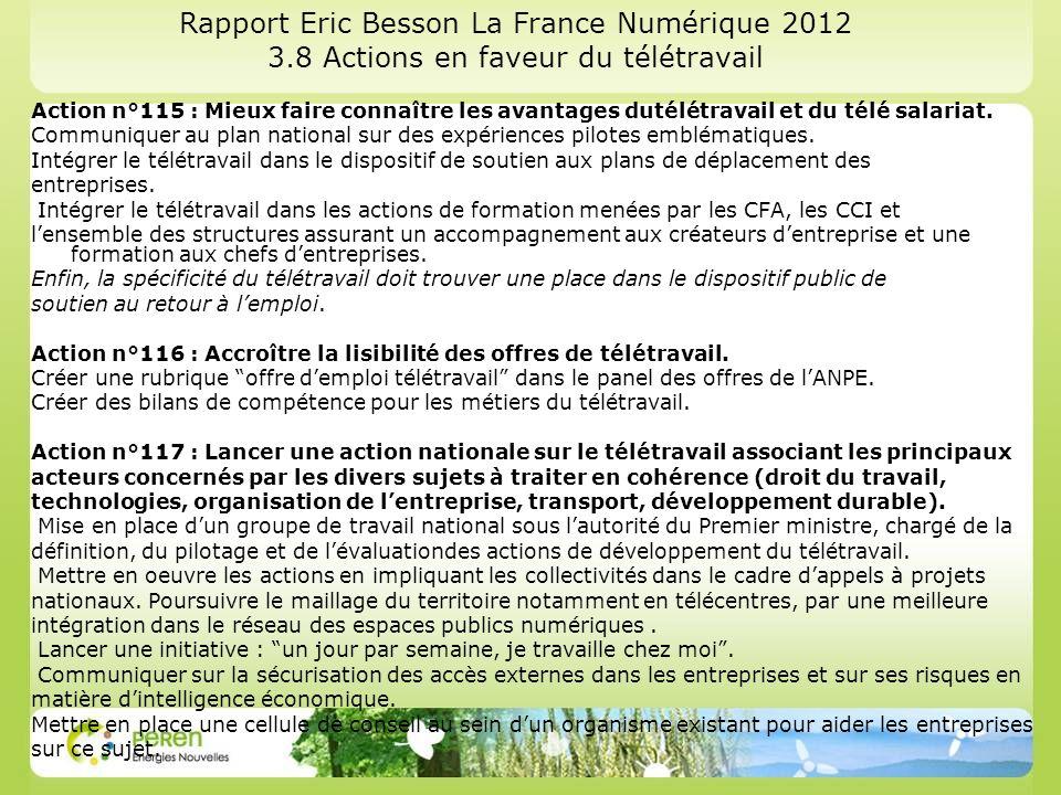 Rapport Eric Besson La France Numérique 2012 3