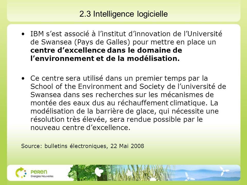 2.3 Intelligence logicielle