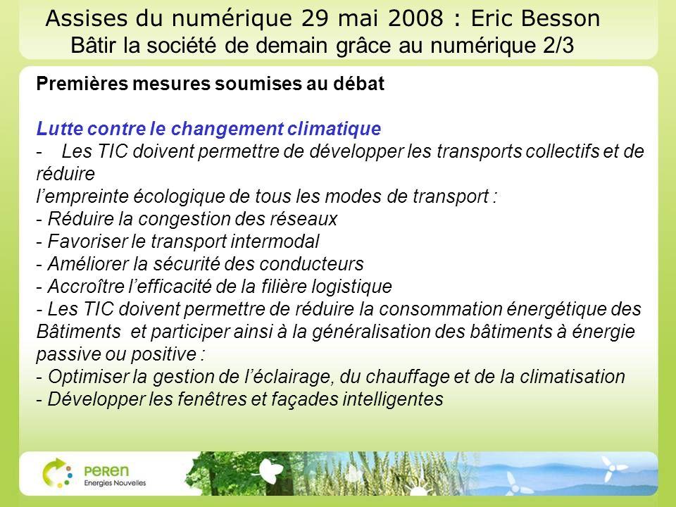 Assises du numérique 29 mai 2008 : Eric Besson Bâtir la société de demain grâce au numérique 2/3