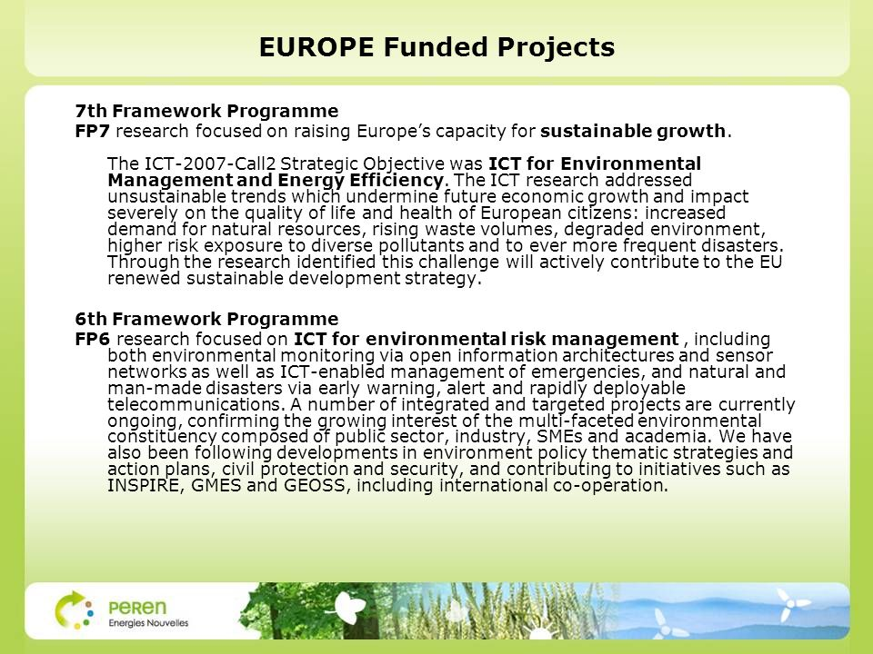 EUROPE Funded Projects