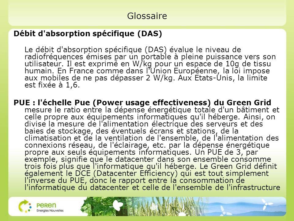 Glossaire Débit d absorption spécifique (DAS)