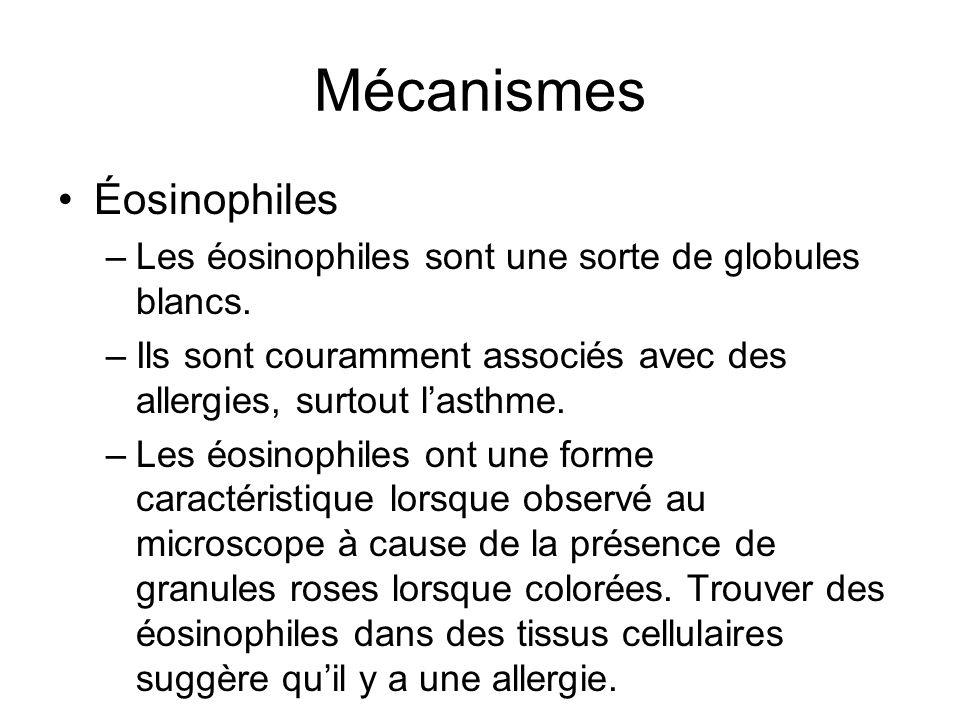 Mécanismes Éosinophiles