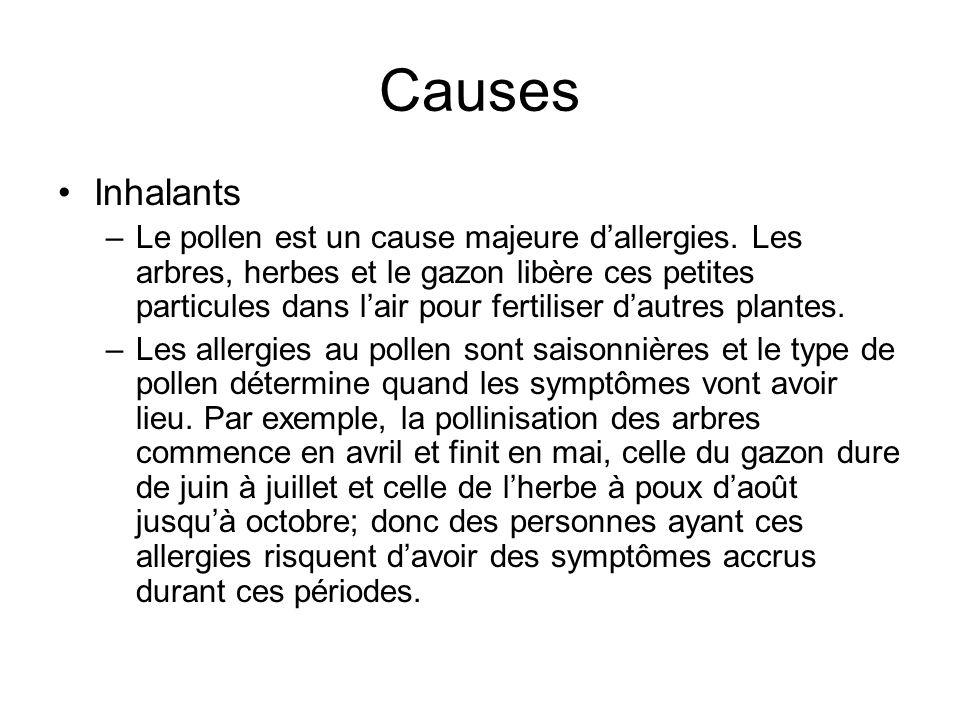 Causes Inhalants.
