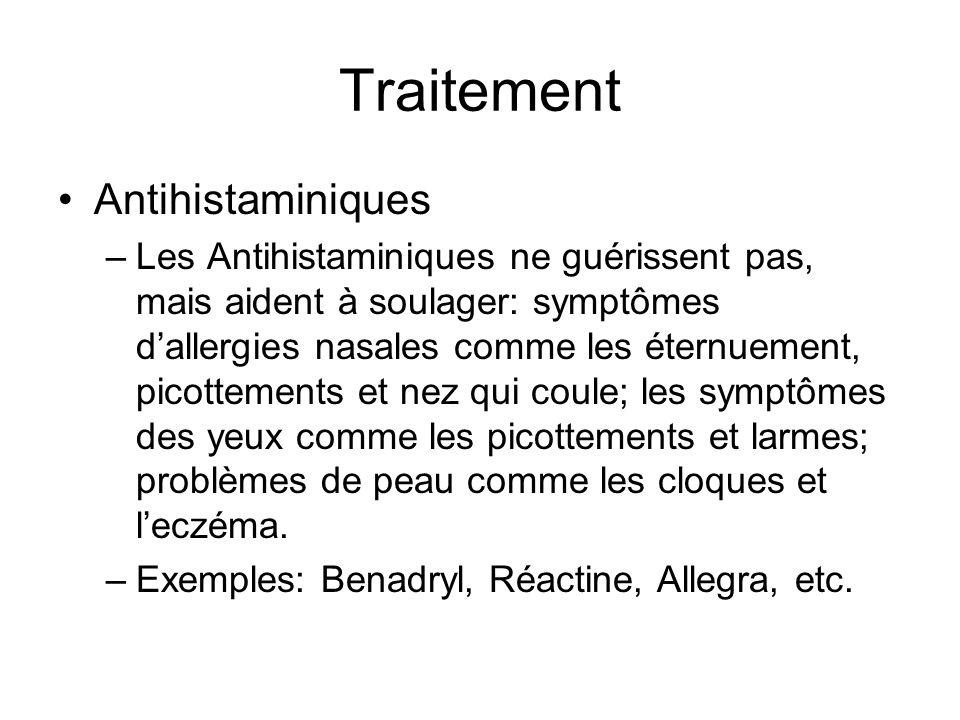 Traitement Antihistaminiques