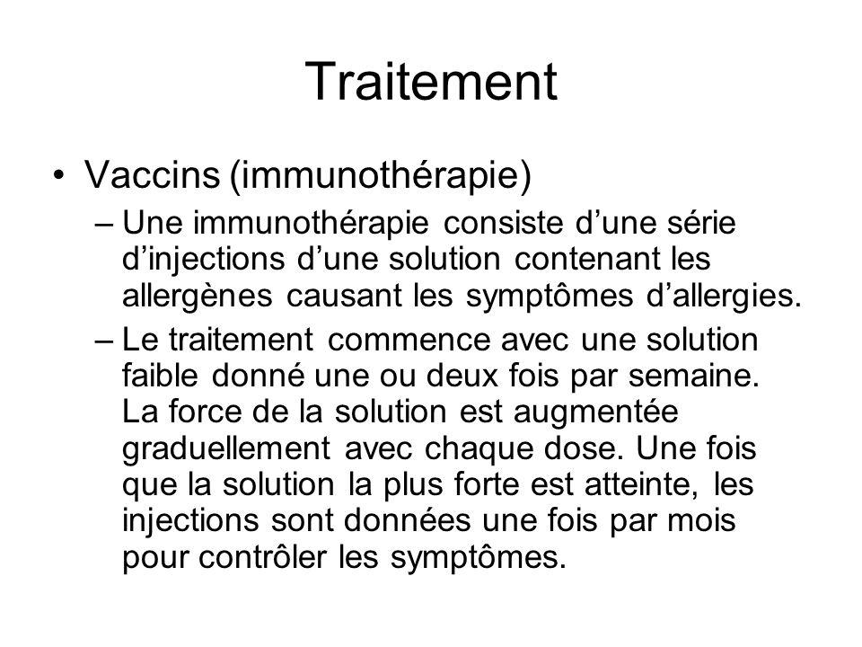 Traitement Vaccins (immunothérapie)