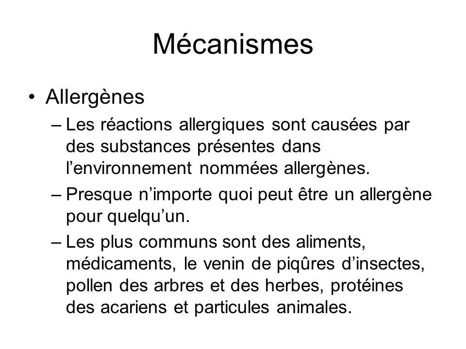 Mécanismes Allergènes