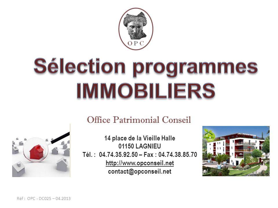 Sélection programmes IMMOBILIERS 14 place de la Vieille Halle