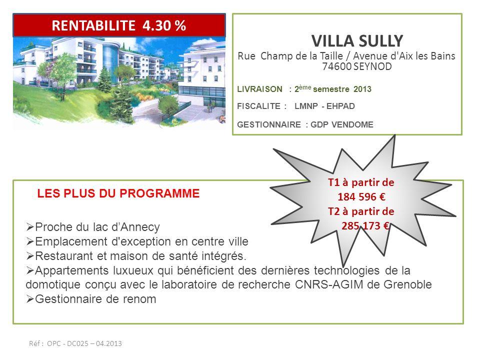 Rue Champ de la Taille / Avenue d Aix les Bains 74600 SEYNOD