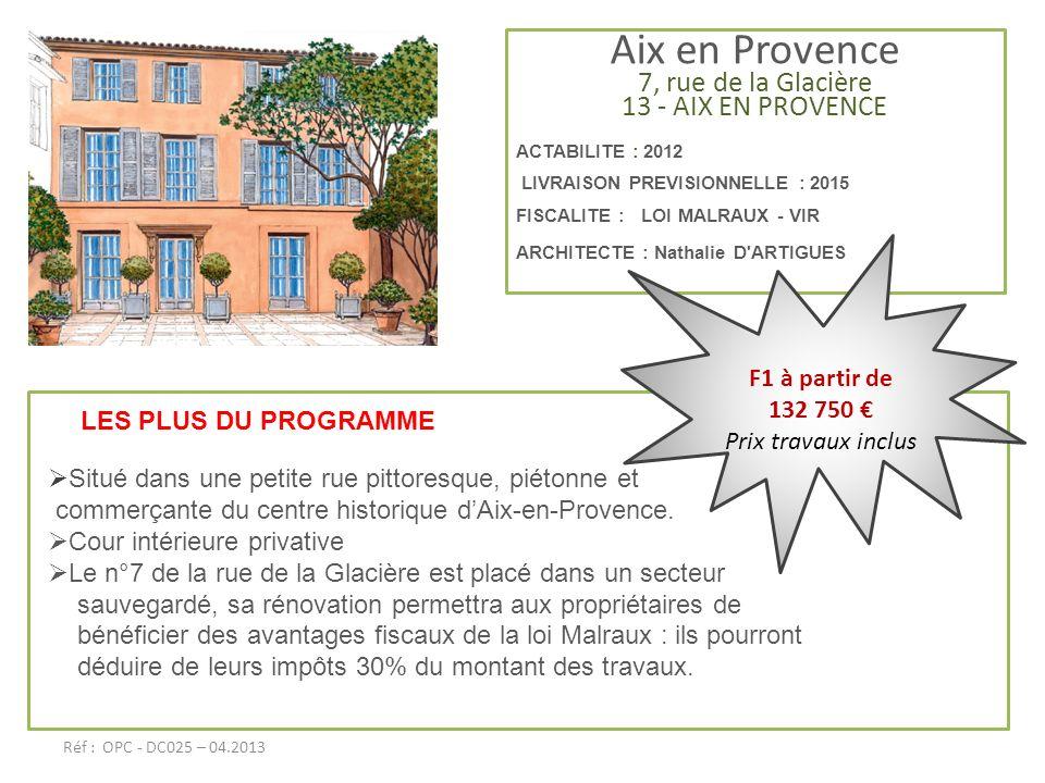 Aix en Provence 7, rue de la Glacière 13 - AIX EN PROVENCE