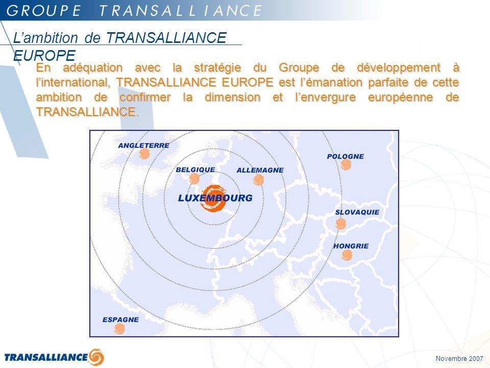 L'ambition de TRANSALLIANCE EUROPE