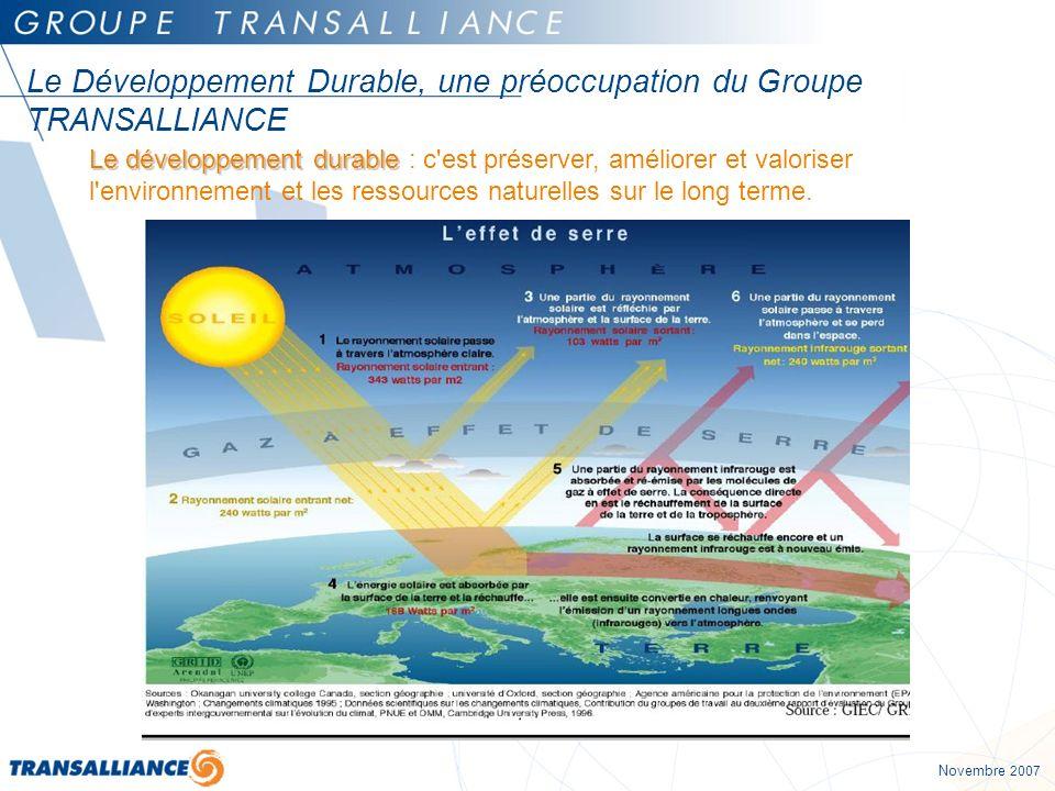Le Développement Durable, une préoccupation du Groupe TRANSALLIANCE