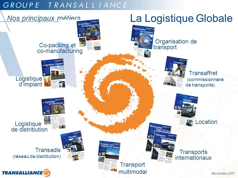 La Logistique Globale Nos principaux métiers Organisation de transport