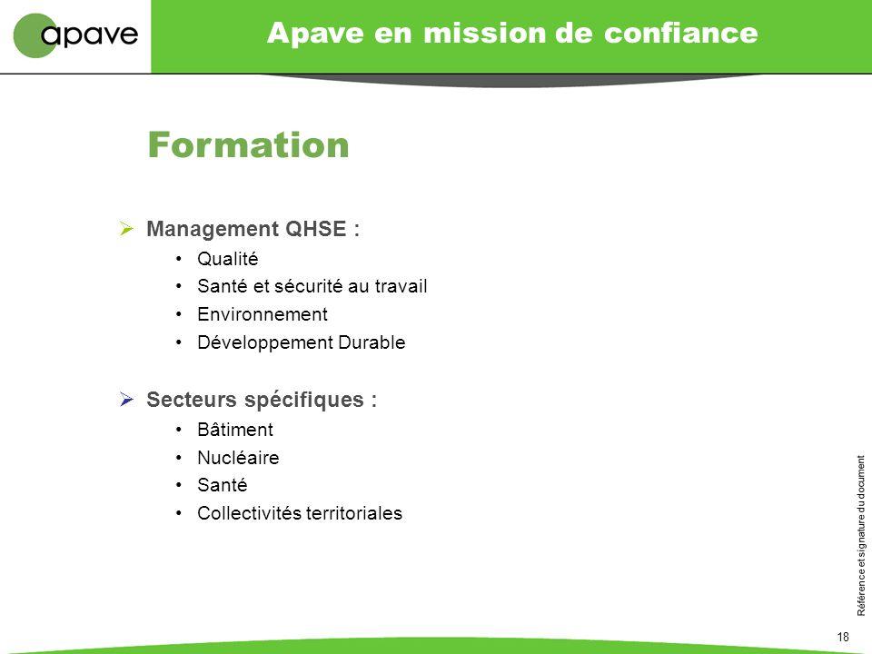 Formation Management QHSE : Secteurs spécifiques : Qualité